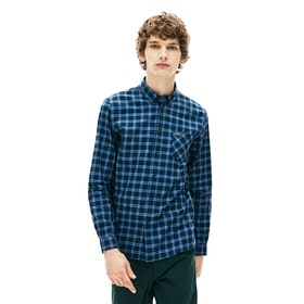 Camisa Lacoste Check Twill - Wheelwright/king