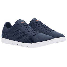 Scarpe Uomo Swims Breeze Tennis Knit - Navy White