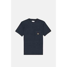 Universal Works Uw Print S S T-Shirt - Navy