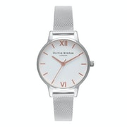 Olivia Burton White Dial Mesh Women's Watch