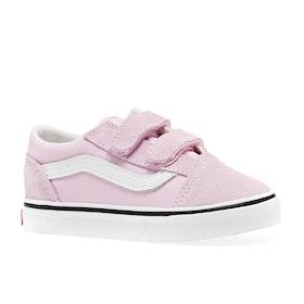 Vans Old Skool V Kids Toddler Shoes - Lilac Snow True White