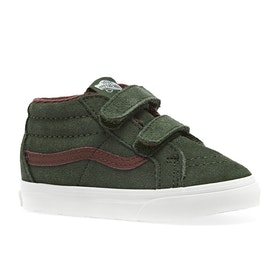 Vans Sk8 Mid Reissue V MTE Kids Toddler Shoes - Deep Lichen Green Root Beer