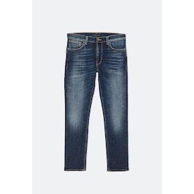 Nudie Lean Dean Jeans - Dark Deep Worn