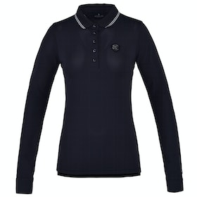 Kingsland Equestrian Chambly Technical Long Sleeve Pique Ladies Polo Shirt - Navy