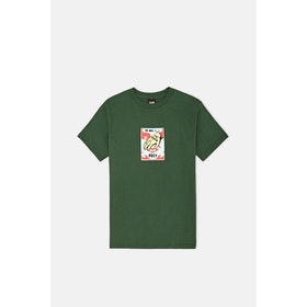 T-Shirt a Manica Corta Obey Mark Of - Forest Green