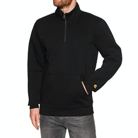Carhartt Chase Neck Zip Trui - Black Gold