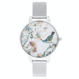 Orologio Donna Olivia Burton Painterly Prints - Rose Gold Silver