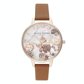 Orologio Donna Olivia Burton Marble Florals - Honey Tan And Rose Gold