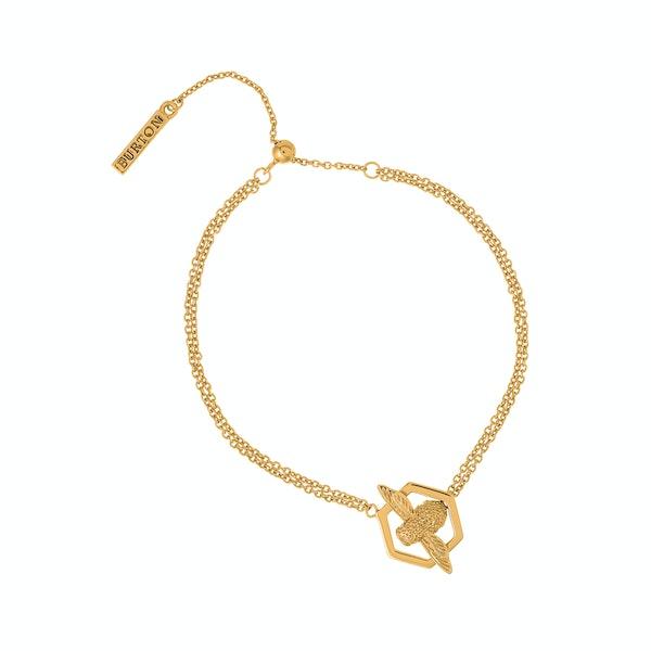 Olivia Burton Honeycomb Bee Women's Bracelet