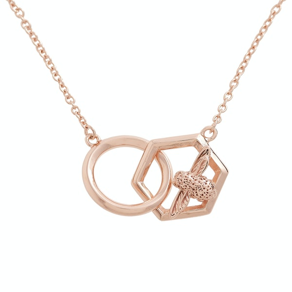 Olivia Burton Honeycomb Bee Womens Necklace