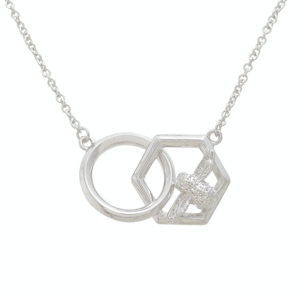 Olivia Burton Honeycomb Bee Women's Necklace