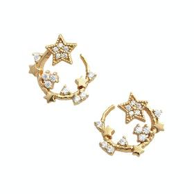 Earrings Donna Olivia Burton Celestial Swirl Hoop - Gold