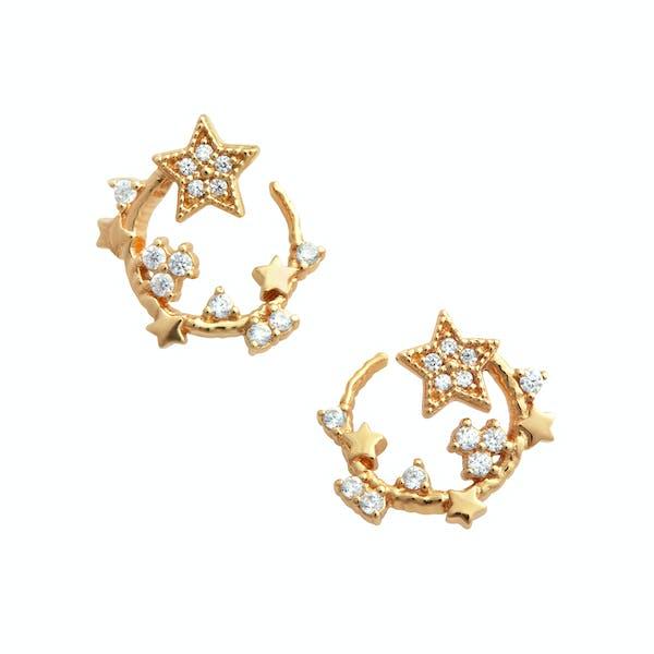 Olivia Burton Celestial Swirl Hoop Women's Earrings