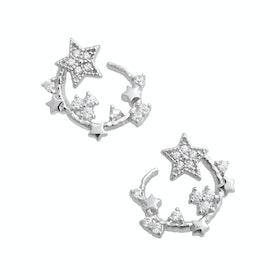 Earrings Donna Olivia Burton Celestial Swirl Hoop - Silver