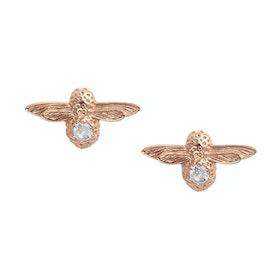 Earrings Donna Olivia Burton Celebration Bee Studs - Rose Gold Topaz