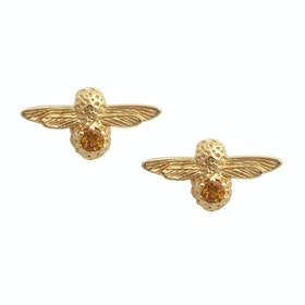 Olivia Burton Celebration Bee Studs Damen Earrings - Gold Citrine