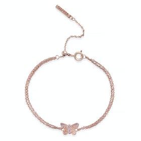 Olivia Burton Bejewelled 3d Butterfly Chain Damen Bracelet - Blue Crystal