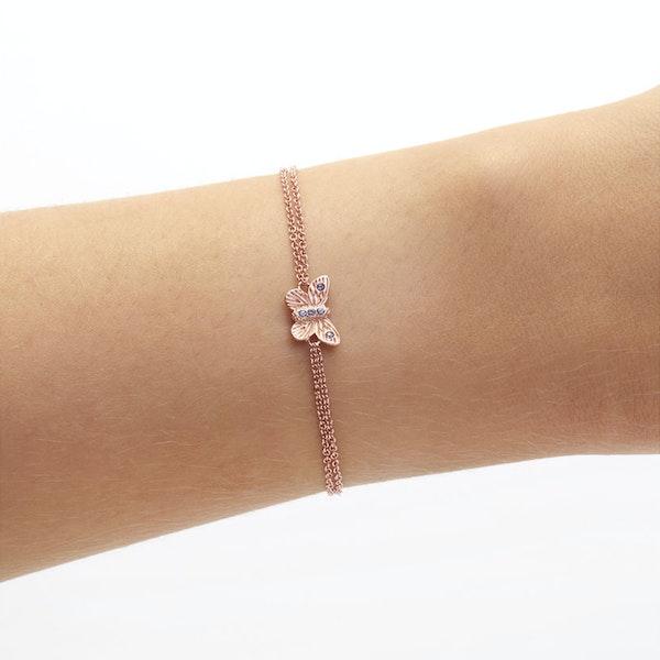 Olivia Burton Bejewelled 3d Butterfly Chain Kvinner Bracelet