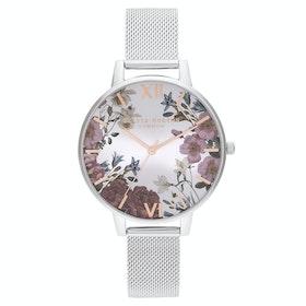 Olivia Burton British Blooms Women's Watch - Rose Gold Silver
