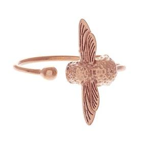 Olivia Burton 3d Bee Damen Ring - Rose Gold