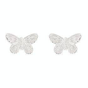 Olivia Burton 3d Butterfly Stud Damen Earrings - Silver