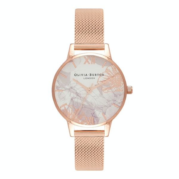 Olivia Burton Abstract Florals Women's Watch