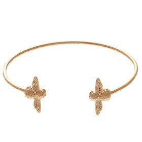 Olivia Burton 3d Bee Open End Bangle Damen Bracelet - Gold