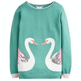 Joules Miranda Girl's Knits - Green Double Swan