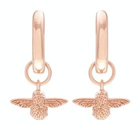Olivia Burton 3d Bee Huggie Hoop Damen Earrings - Rose Gold