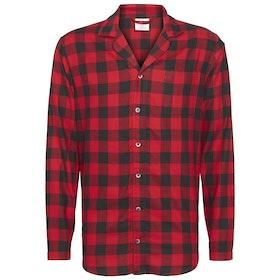 Calvin Klein Long Sleeved Button Down Top Pyjamas - Buffalo Check Temper