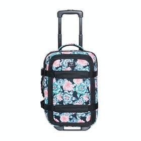 Roxy Wheelie Essential Womens Luggage - Anthracite Crystal Flower