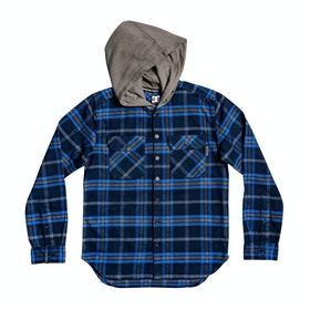 DC Runnels Boys Shirt - Black Iris