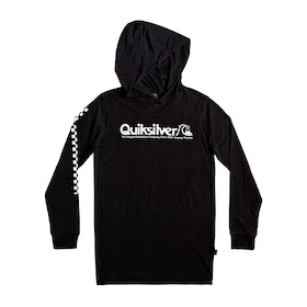 Quiksilver Checkers Mate Boys Pullover Hoody - Black