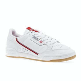 Adidas Originals Continental 80 Shoes - Ftwwht/grethr/scarle