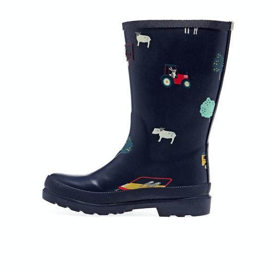 Joules Jnr Welly Print Boys Wellies