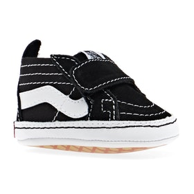 Vans In Sk8 Hi Crib Baby Shoes - Black True White