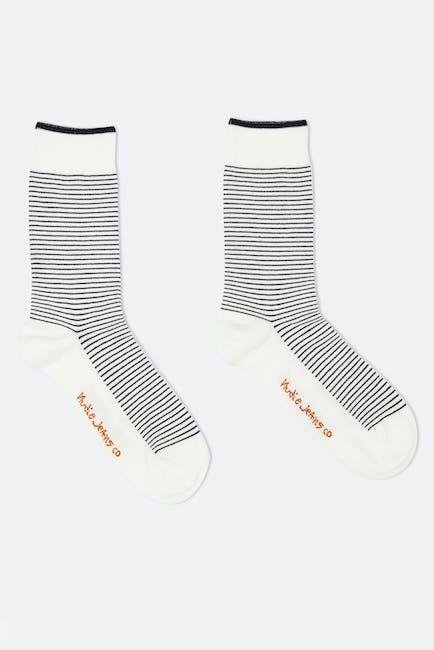 Nudie Olsson Twisted Stripe Socken