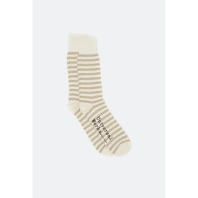 Universal Works Stripe Socks - Ecru