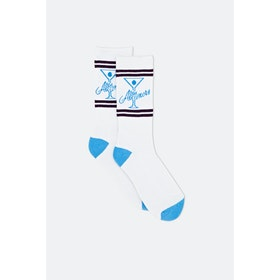 Alltimers League Player Socks - White Blue Purple