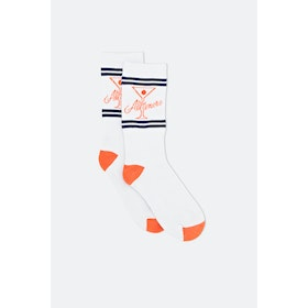 Alltimers League Player Socks - White Orange Navy