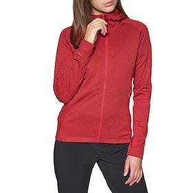 Rab Nucleus Hoody Womens Fleece - Crimson Geranium