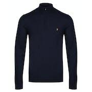 Farah Redchurch Quarter Zip Extra Fine Merino Sweater