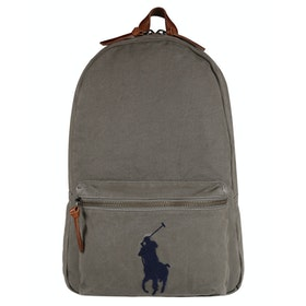 Polo Ralph Lauren Signature Pony Canvas Backpack - College Grey