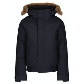 Lacoste Croc Twill Down Jacket - Graphite Sombre Baobab