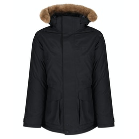 Lacoste Seasonal Twill Down Jacket - Black Graphite