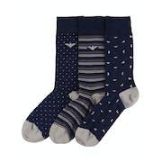 Emporio Armani 3 Pack Knit Short Socken