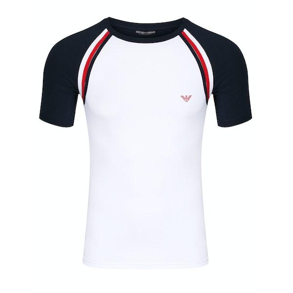 T-Shirt à Manche Courte Emporio Armani Stretchy Knit Cotton