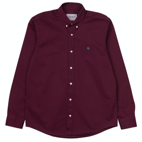 Carhartt Madison Hemd - Merlot / Dark Fir