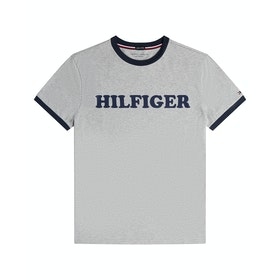 Tommy Hilfiger Crew Neck Organic Tee Loungewear Tops - Grey Heather