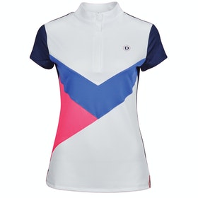 Dublin Vivian Half Zip Competition Shirt - White Multi